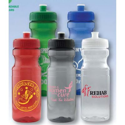 24 Oz. Colored Bike Bottle w/ Push Pull Cap