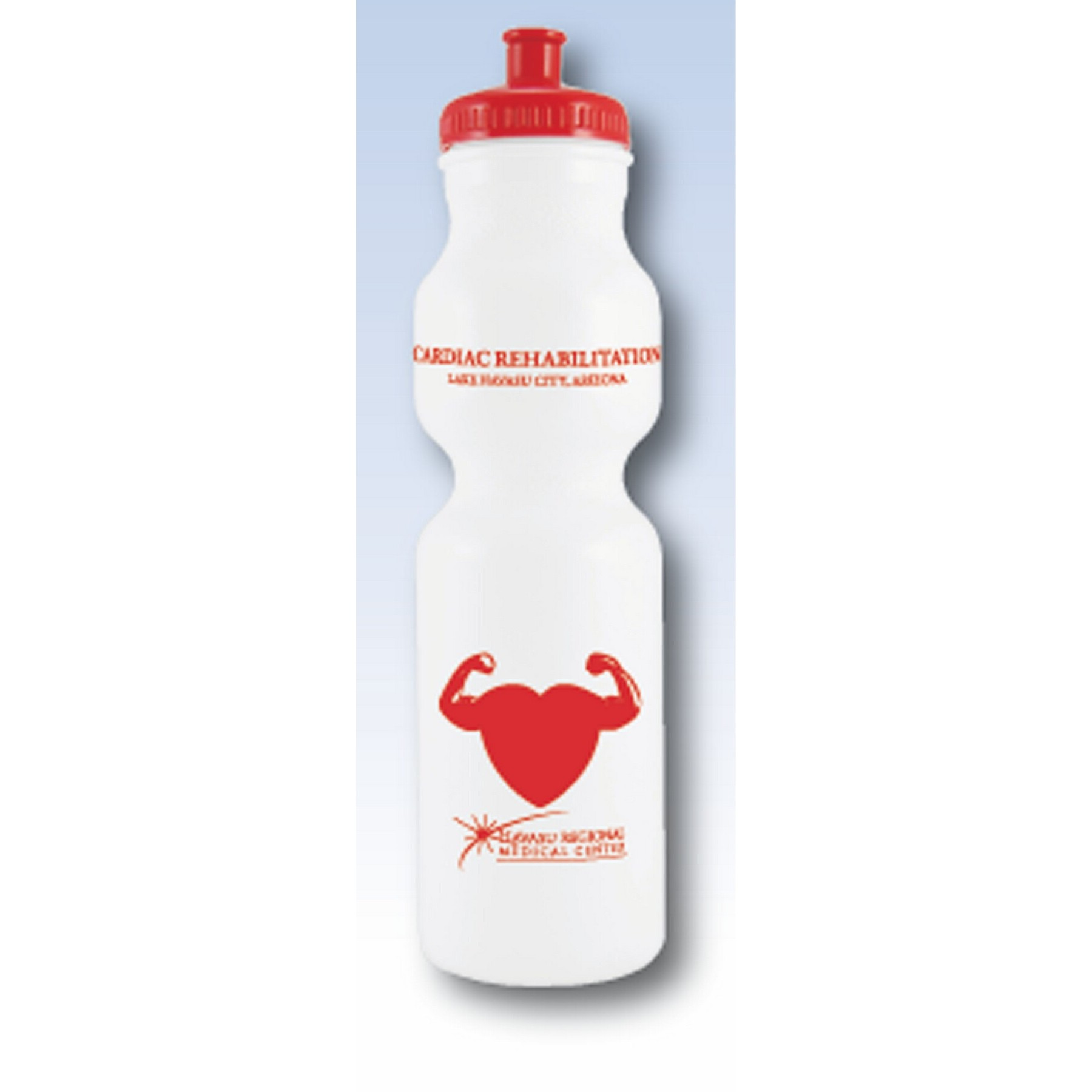 28 Oz. White Bike Bottle