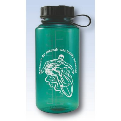 32 Oz. Tritan Water Bottle w/ Strap Lid & Graduated Scale