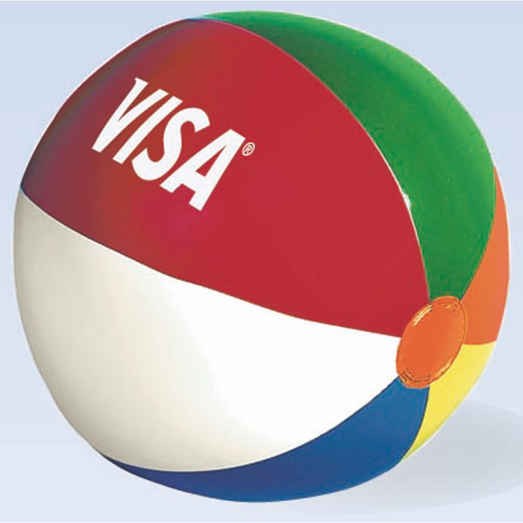 "Mini Beach Ball w/ Multi-Colored Panels (4.5"" Inflated)"