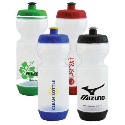23 oz Clean Bottle with Removable Top and Bottom Lids