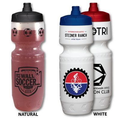 24 Oz. Premium LDPE Bike Bottle with View Stripe
