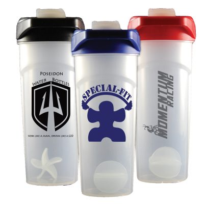 24 oz Frosted Shaker Bottle with Flip Top Lid and Shaker Ball