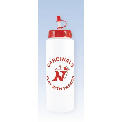 32 oz. White Sports Bottle