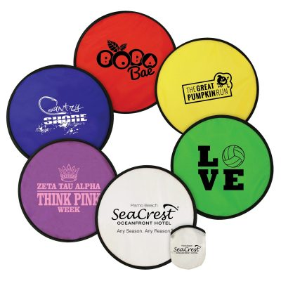 Flexible Nylon Flying Disc with Matching Pouch