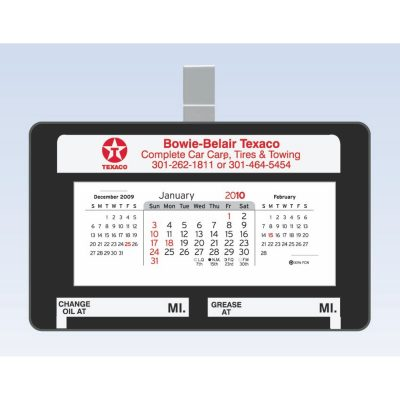 "Small Car/ Truck Visor Calendar with Clip (4.5""x2.75"")"